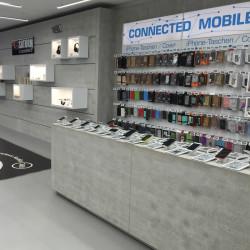 comptoir de magasin style industriel beton