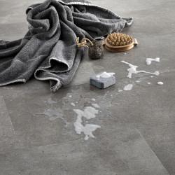 sol vinyle salle de bain aspect beton
