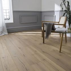 Chambre avec parquet contrecolle rustique